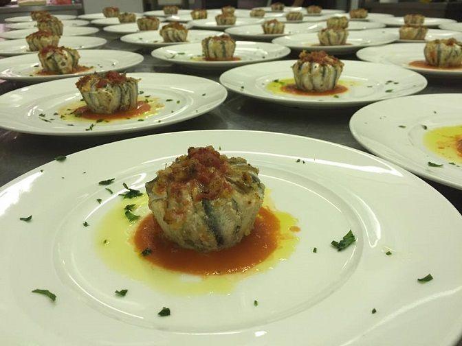 Tortino di Alici su Vellutata di Pomodorini - Cucina di gusto...