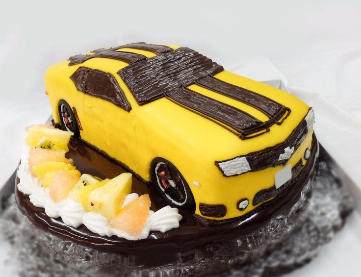 シボレーカマロ  #3Dケーキ #誕生日ケーキ #オーダーケーキ #バースデーケーキ #立体ケーキ #car #cake #車のケーキ #シボレー #カマロ #バンブルビー #トランスフォーマー #chevrolet #camaro #transformers #bumblebee #プレゼント #通販 #宅配 #全国発送 #pinterest