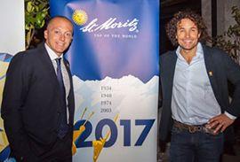 Max Blardone testimonial della serata di presentazione dei Campionati del Mondo a St Moritz