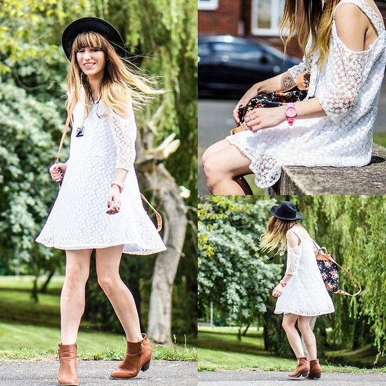 Agata P - Choies Cold Shoulder Lace Dress, Yes For Pink Silicone Watch, Primark Boots - It's A Kindness That The Mind Can Go Where It Wishes...