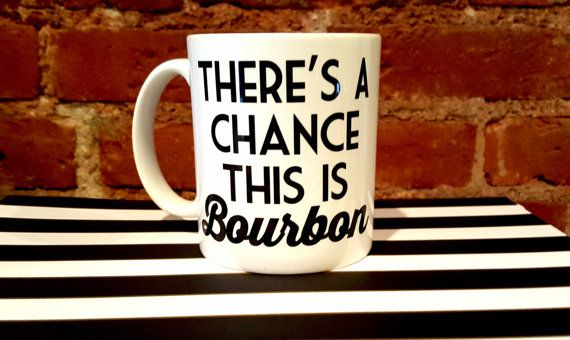 Could be coffee, could be Bourbon. Keep them guessing with this ceramic coffee mug perfect for caffeine and alcohol alike.  11 oz coffee mug.