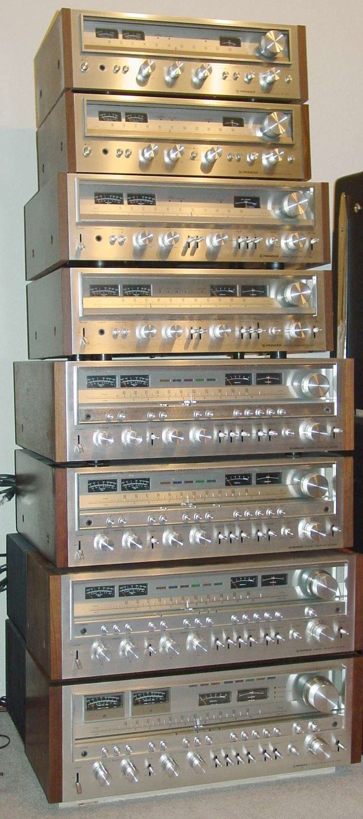 Pioneer SX 1980 Specs | ONE STACK!! Pioneer SX-580 through SX-1980
