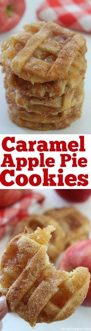 Caramel Apple Pie Cookies | Bake a Bite