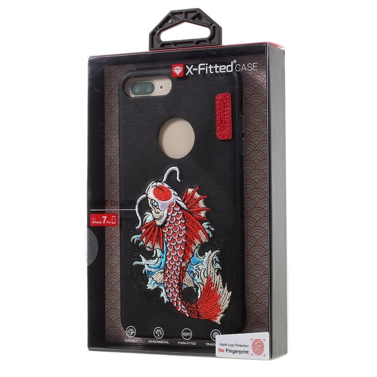 For iPhone 7 Plus Embroidery Leather Skin TPU PC Phone Case for iPhone 7 Plus Auspicious Dragon Pattern | iPhone Covers Online
