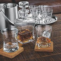 madison avenue whiskey decanter and glasses set - Whisky Decanter