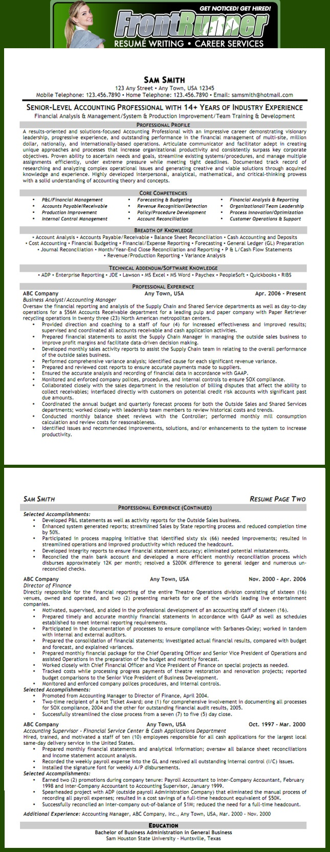 11 best images about best accountant resume templates  u0026 samples on pinterest