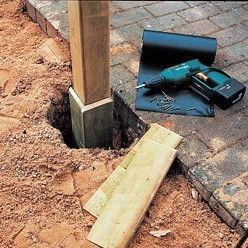 étanchéité d'un poteau de vois enterré