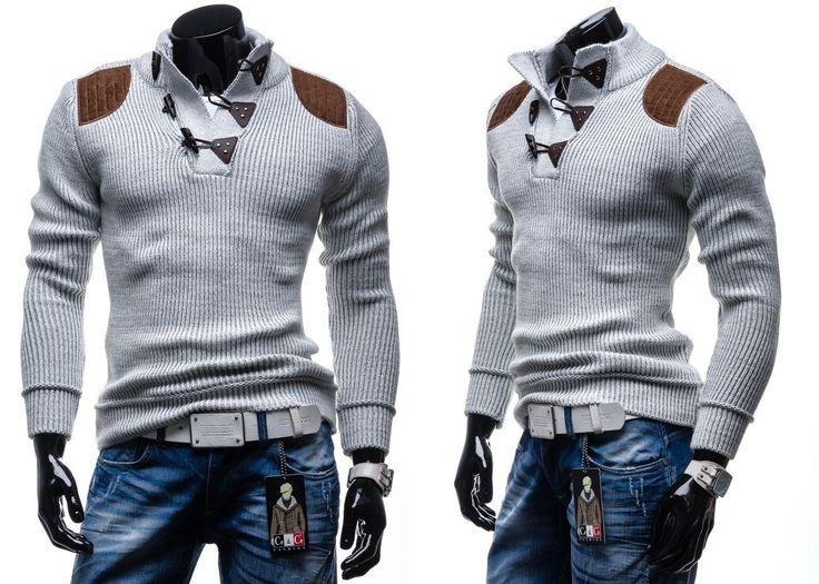 COMEOR 4302 - BIAŁY BIAŁY   On \ Swetry męskie   Denley - Odzieżowy Sklep internetowy   Odzież   Ubrania   Płaszcze   Kurtki