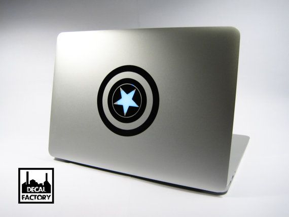 Cool captain america shield macbook laptop vinyl sticker decal apple air pro dell hp ibm acer