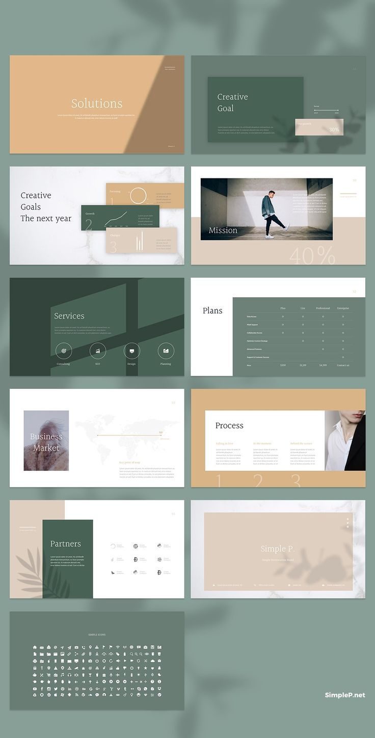 simple solutions glory presentation powerpoint template goal