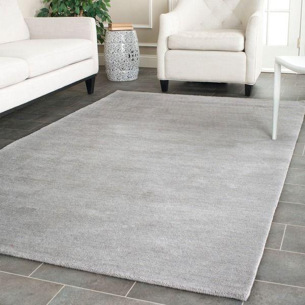 Safavieh Hand-loomed Himalaya Grey Wool Rug (3' x 5')