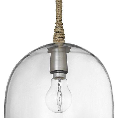 Buy John Lewis Cloche Glass Pendant Ceiling Light Online at johnlewis.com