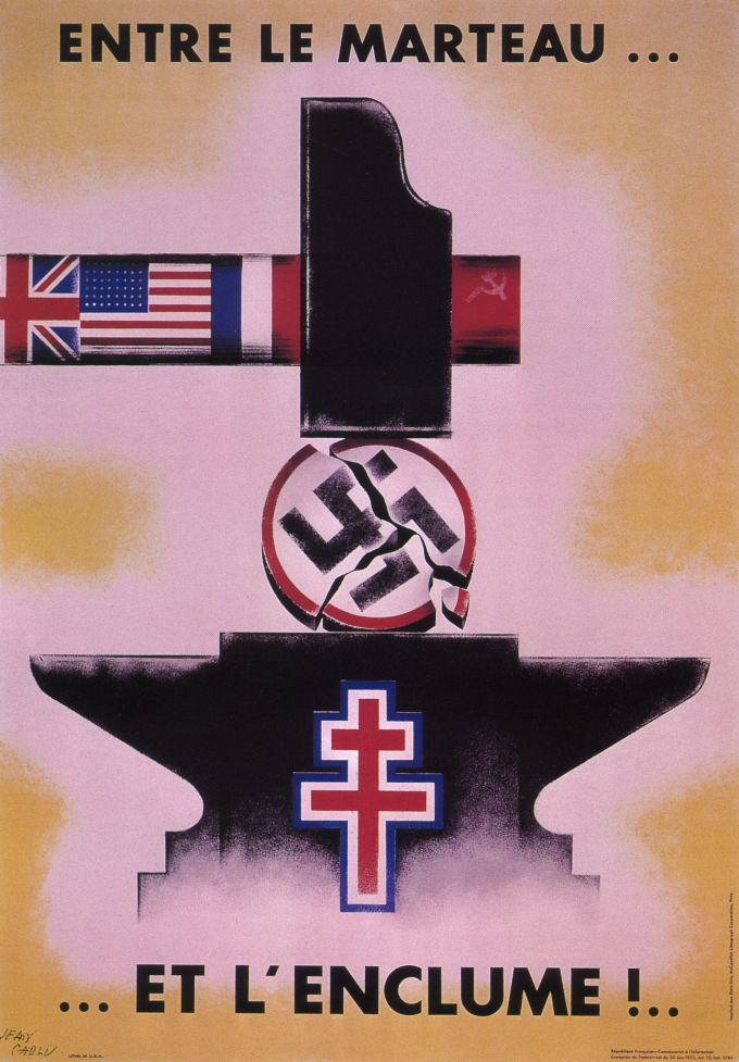 """Between hammer and anvil!"" France 1944  JAN16"