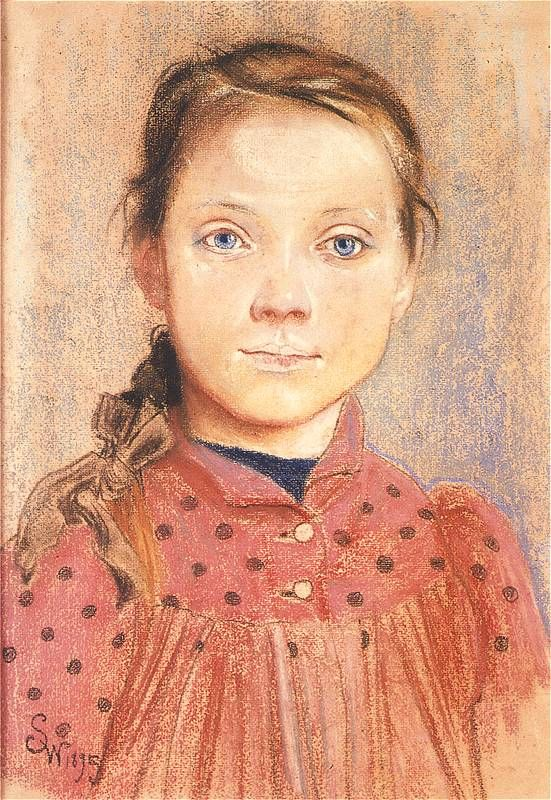 Stanisław Wyspiański, Portret dziewczynki (1895)
