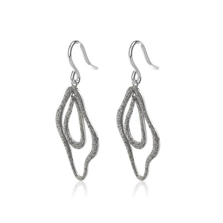 wholesale custom glitter drop earrings