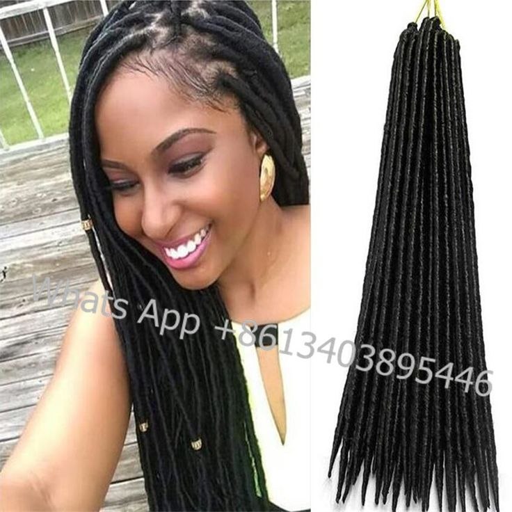 (2 PACKS)faux locs crochet hair extensions synthetic dreads havana mambo faux dreads 24