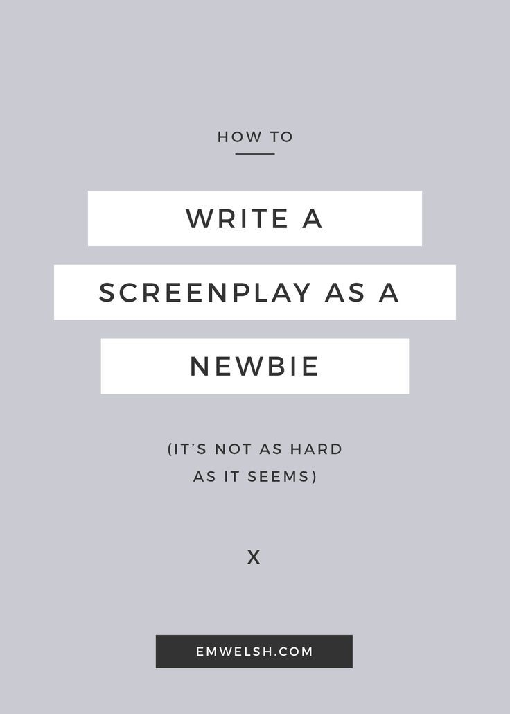 how to write a screen play Write a second screenplay, but this time focus on both completing it and on getting the structure right (focusing on structure first has a good return for your investment of time) (focusing on structure first has a good return for your investment of time.