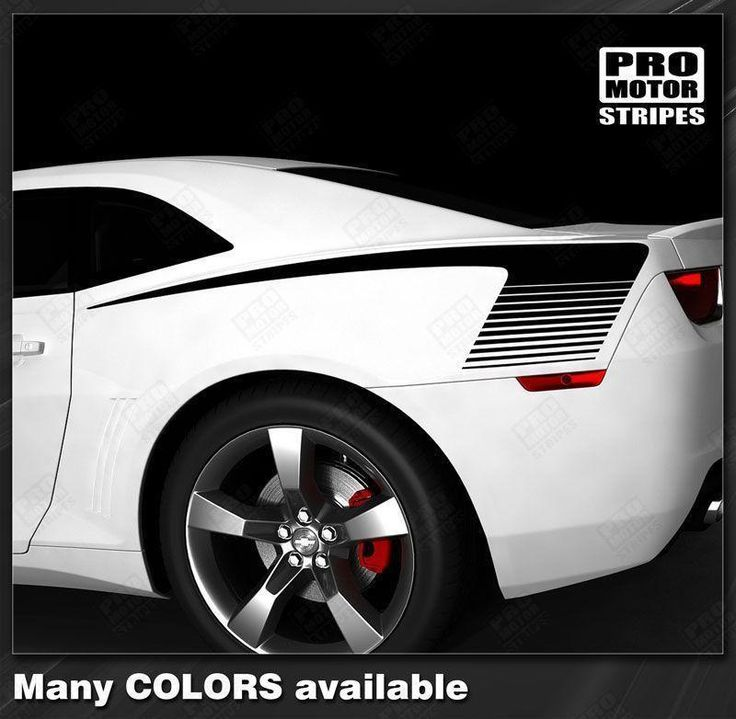 Chevrolet Camaro 2010-2015 Rear Quarter Side Strobe Stripes
