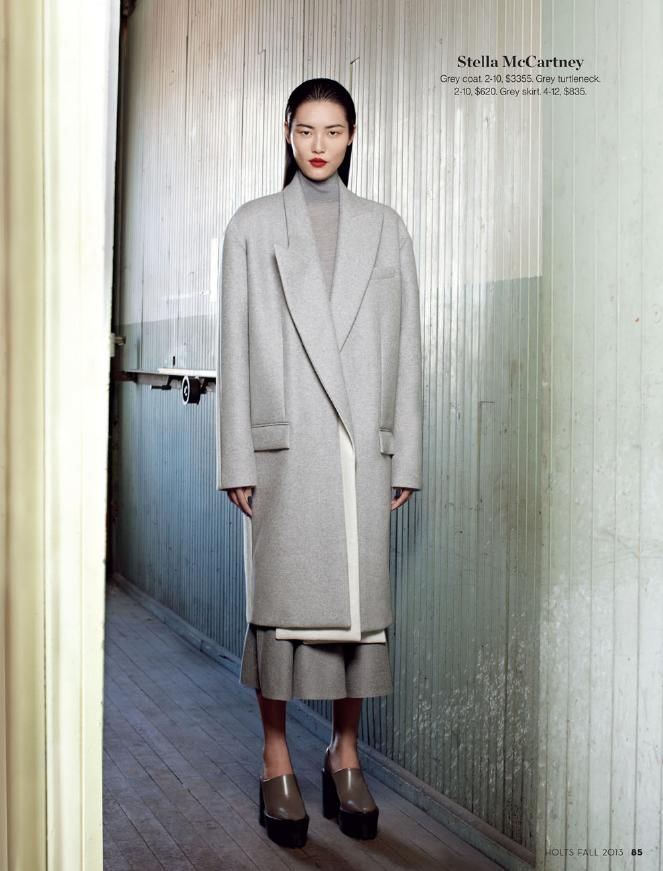 inspiration for www.duefashion.com  Liu Wen in Stella McCartney for Holt Renfrew Fall 2013 Magazine