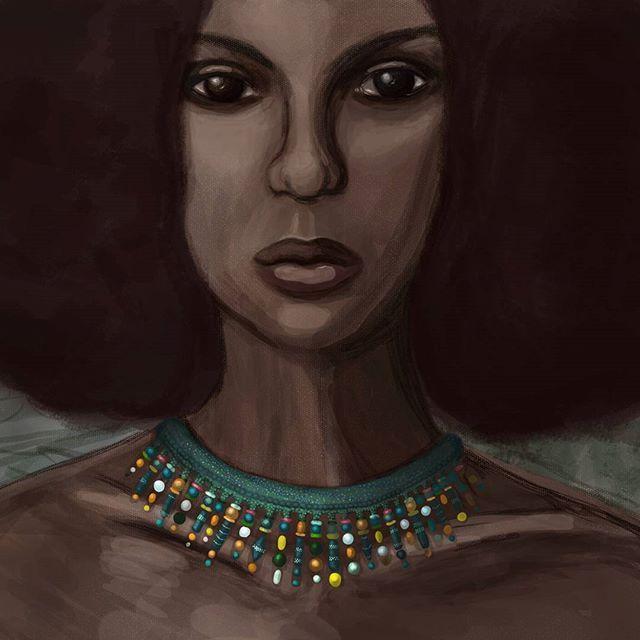 Где-то между спортзалом и работой продолжаю экспериментировать с фотошопом. И чем дальше, тем больше мне нравится процесс. Я теряю счёт времени: забываю попить, поесть, лечь спать. Наркомания какая-то 😂    #portrait #digitalart #drawing #art #african