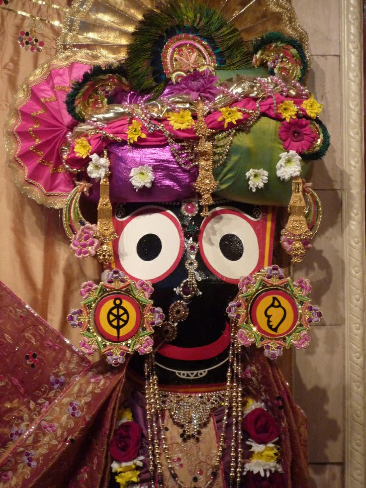 Lord Krishna who is called Lord Jagannath ( from Flickr by Jahnavi ) P1030452
