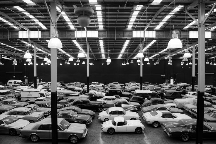A sea of cars at the Gosford Classic Car Museum. #opening2016