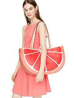 flights of fancy grapefruit tote by kate spade new york