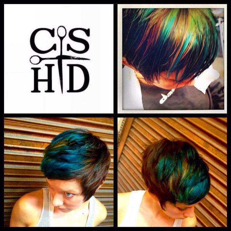 30 Glamorous Green Hair Styles Momooze Com 2: Peacock. Hair By Christina Sanchez Hair