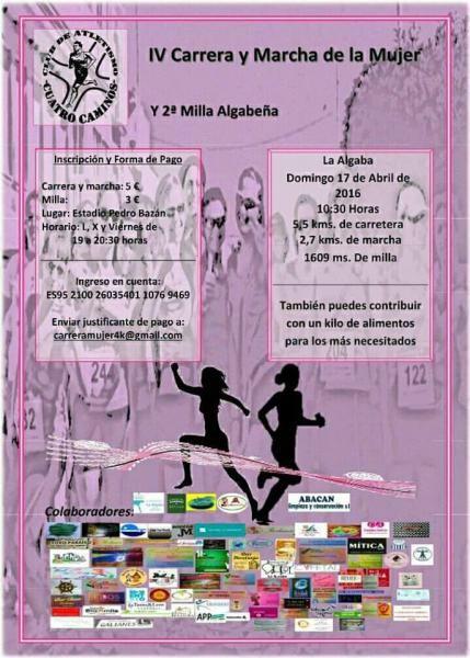 Fecha:Domingo, 17 Abril, 2016 – 10:30 Localidad:La Algaba Provincia:Sevilla Kilómetros:5,500 Distancias Varias:También marcha de 2,7 kms y milla de 1709 metros. Precios:5 €, la milla 3 …