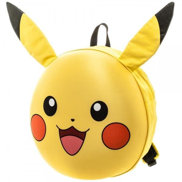 Pika Pika! Pikachu!  On sale now, this big molded pikachu face backpack is strong and cute! Use it to go back to school, or for work! For kids nad adults alike #pokemon #pikachu #poke #mon #backpack #kids #kid #girl #girly #boy #boys #backtoschool #school #cute #awesome #funny #sweet #nerd #nerdy #geek #geeky #gamer #game #gaming #videogame #videogames #fashion #nintendo #switch #nintendoswitch
