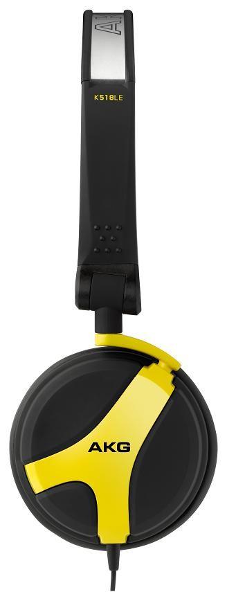 AKG K518LE DJ Headphones (Yellow)