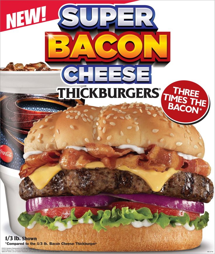 Hardee's® present a super burger for super fans. Boasting six slices of bacon, the new Super Bacon Cheese Thickburger®  features a charbroiled beef patty, American cheese, mayonnaise, tomato, onion, lettuce and a super serving of bacon, with six full bacon strips woven together into a crispy bacon nest. Prices start at $3.99 and may vary by location.