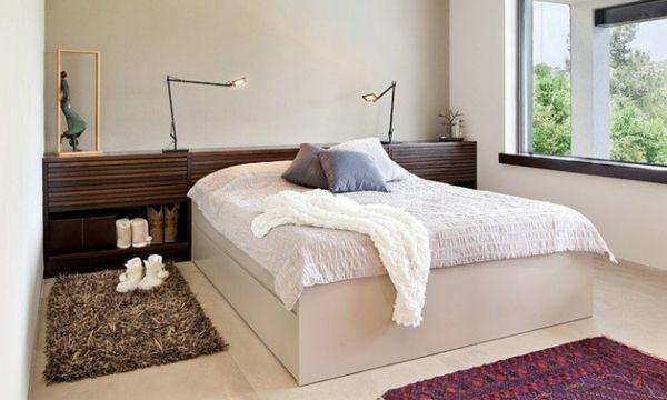 tête de lit avec rangement, design contemporain