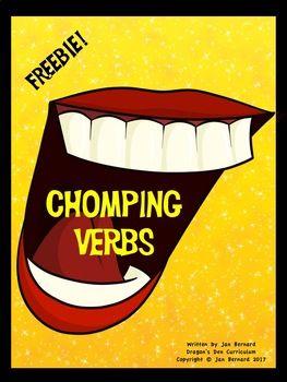 This fun freebie makes learning about verbs fun and easy! Quick min-lessons make it easy for teachers too! This freebie includes: Teacher notes with mini-lesson ideas and grading key Three worksheet pages Chomp-A-Verb Chomping Verbs