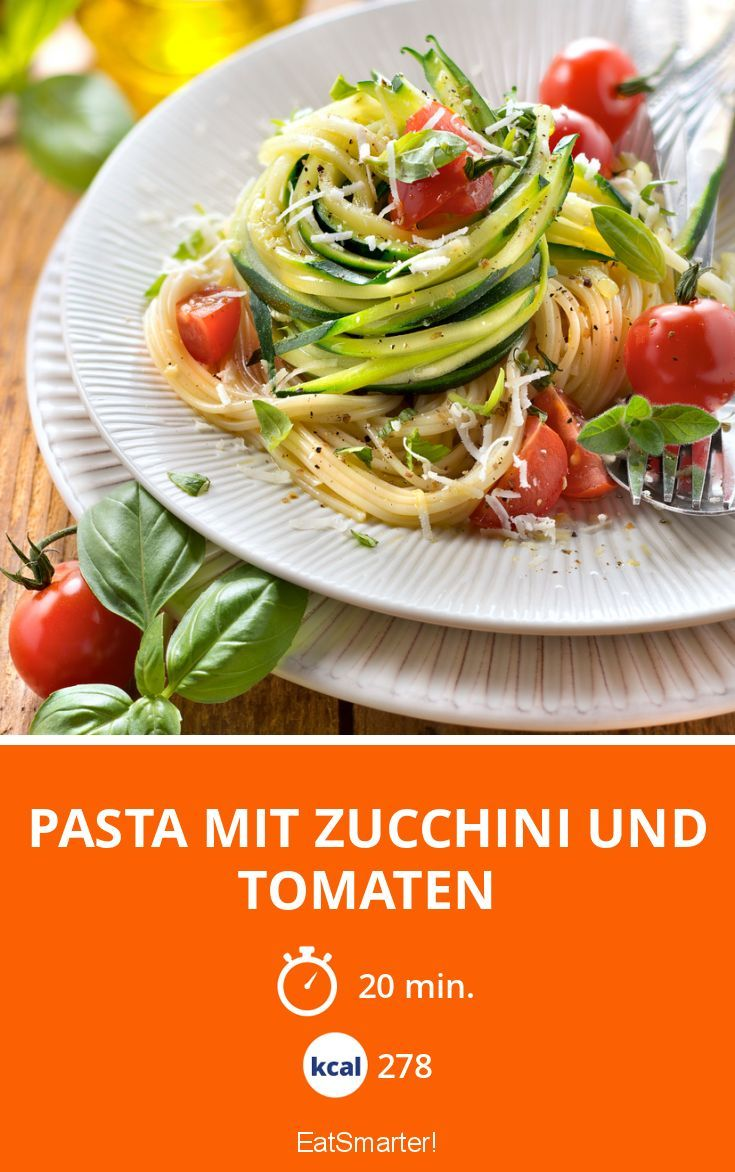 Pasta mit Zucchini und Tomaten - smarter - Kalorien: 278 kcal - Zeit: 20 Min. | eatsmarter.de