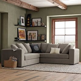 Sectional Sofas (I like the corner shelf arrangement with the sectional-L)