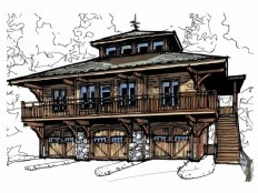 craftsman carriage house with cupola