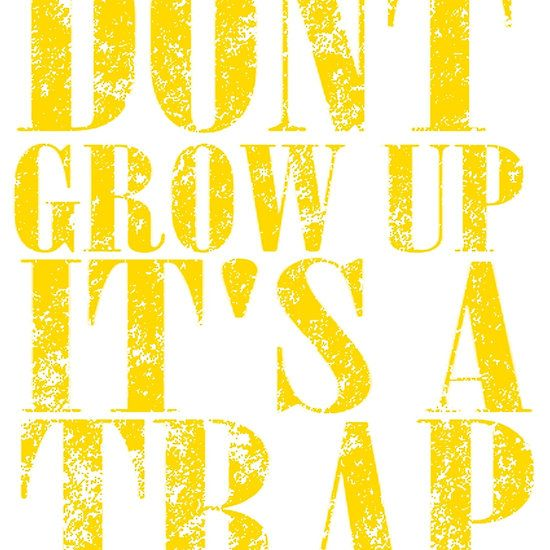 Nirvana Inspired - Don't Grow Up, It's A Trap T Shirts, Stickers and Other Gifts