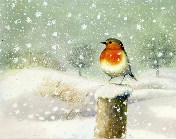 Зимние акварели от голландского художника Marjolein Bastin - Colors.life