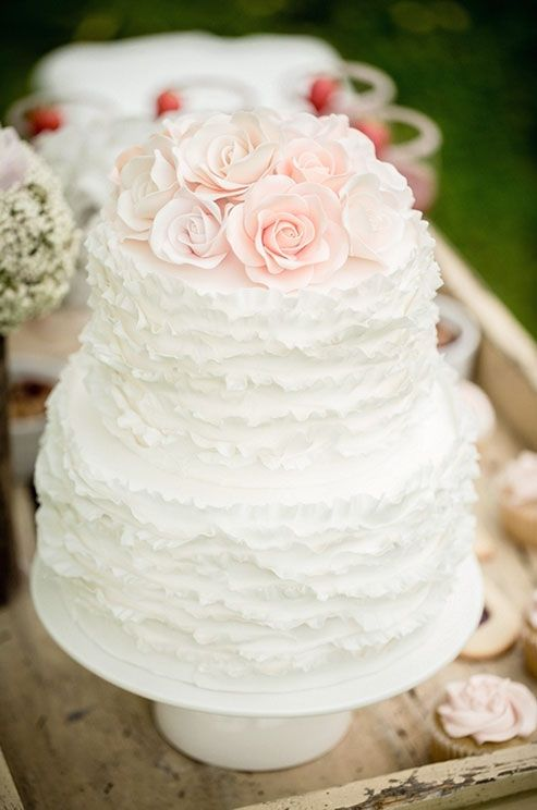 How fab is this ruffle cake? WeHeartIt allows you to search specific terms for any wedding inspiration.