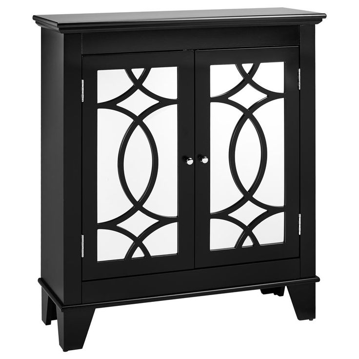 Cut-out 2-door cabinet with mirror/BUFFETS/FURNITURE|Bouclair.com
