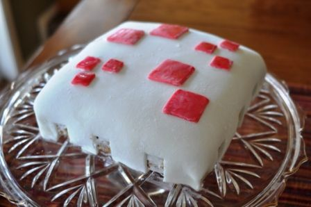 Minecraft Birthday Cake (this is what cake looks like in the Minecraft Game)