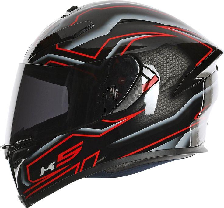 La déco Deep valorise les lignes aérodynamiques du casque intégral Racing
