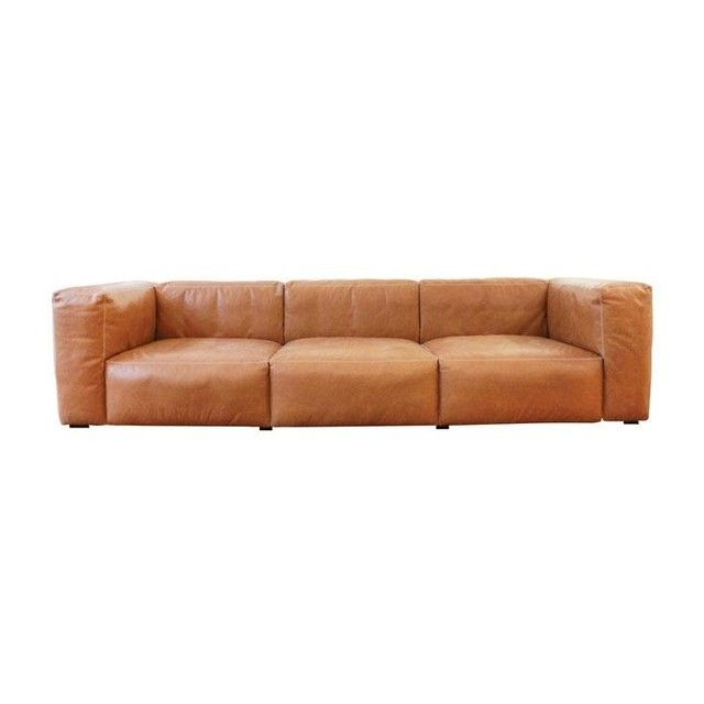 Soft Leather Sectional Sofa: - Mags Soft Leather Sofa 268.5x95.5cm