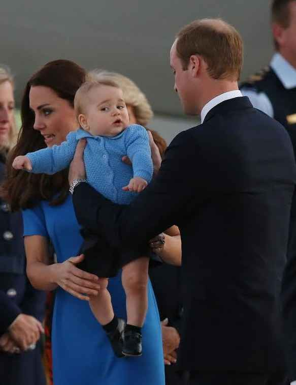 Er, dad, where are you planning on putting me? | The Official Ranking Of Prince George's Best Facial Expressions