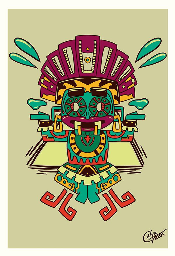 Dioses Aztecas on Behance