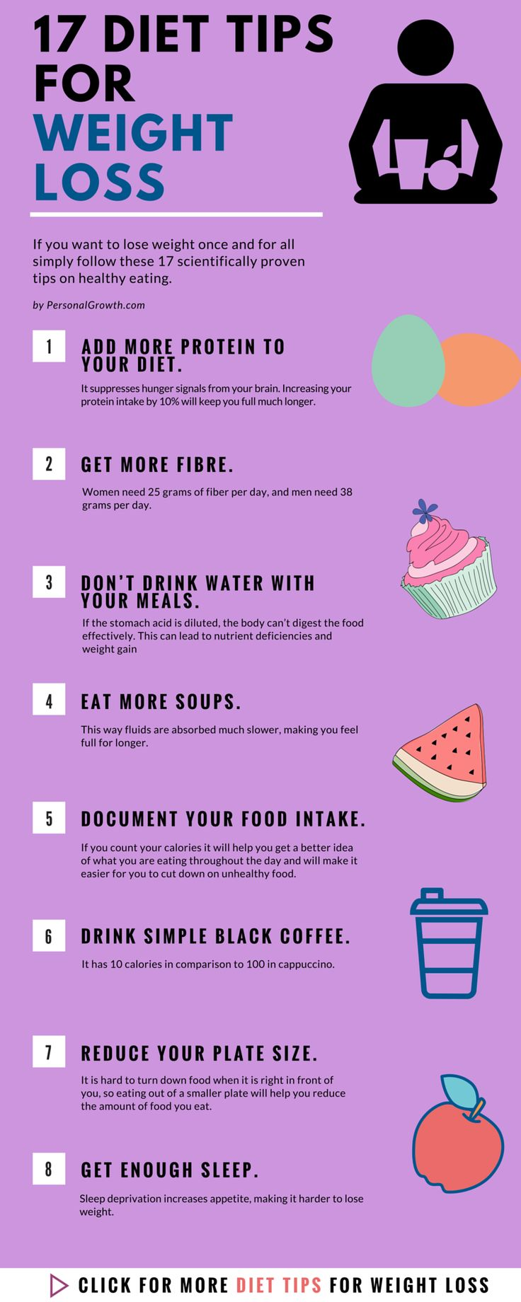 17 Diet Tips To Lose Weight #weightloss #weightlosstips