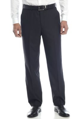 Alexander Julian Men's Big & Tall Suit Separate 32 Inch Seam Pants - Black Hairli - 46 Average