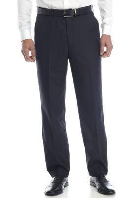 Alexander Julian Men's Big & Tall Suit Separate 32 Inch Seam Pants - Black Hairli - 46 Average