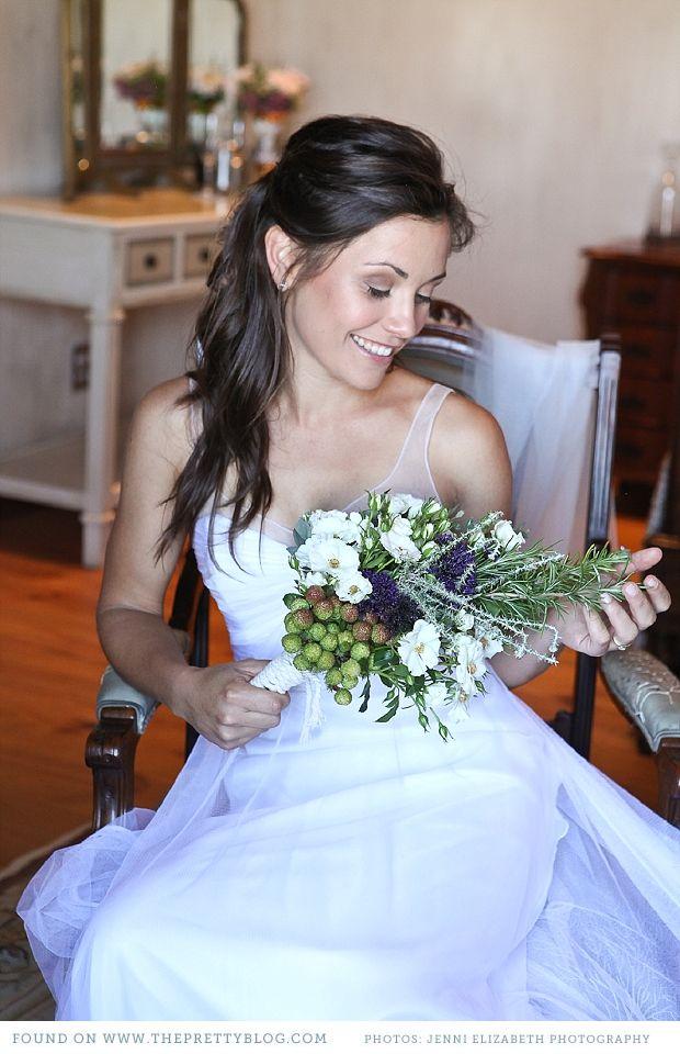 White wedding dress with shoulder detail | Photo: Jenni Elizabeth Photography & Design, Dress: Kluk CGDT